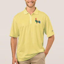 Rooster in Portrait in Colors Polo Shirt