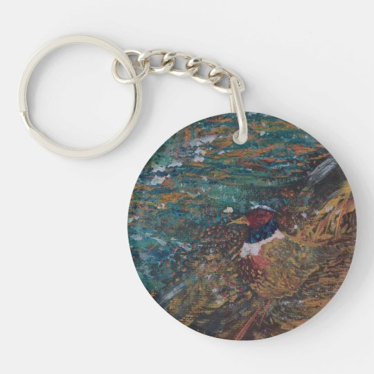 Rooster In The Field Keychain
