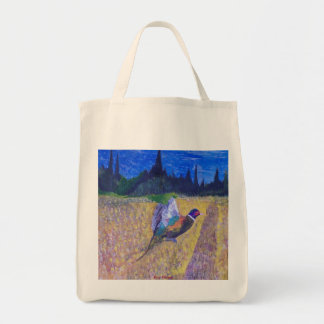 Rooster In The Field Tote Bag