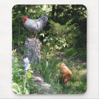 Rooster in the Gardens Mouse Pad