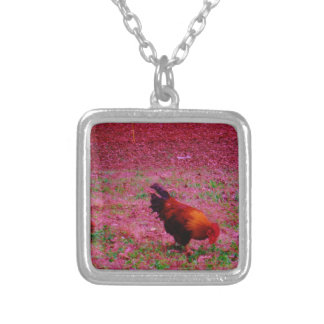 Rooster in the Purple Grass Custom Jewelry