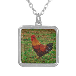 Rooster in the Yard Custom Necklace