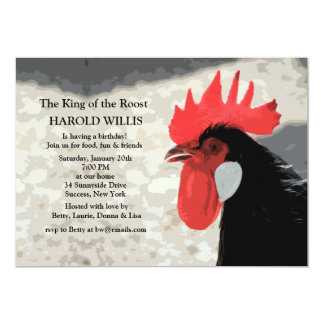 Rooster Invitation