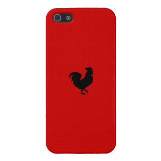 Rooster Iphone 5 Case - Red Background