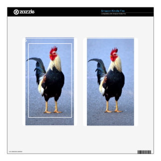 Rooster Kindle Fire Decal