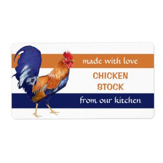 Rooster Kitchen Preserves Label