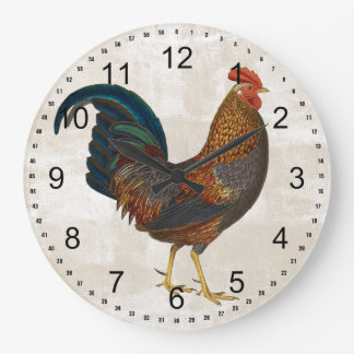 Rooster Large Clock