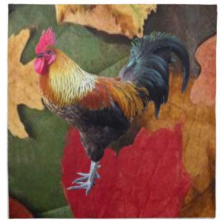 Rooster Leaves American MoJo Napkin