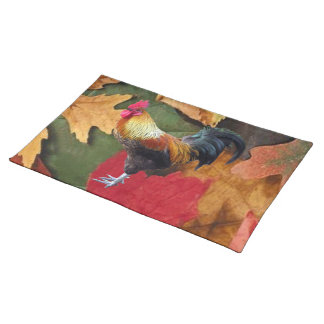 Rooster Leaves American MoJo Placemat