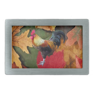 Rooster Leaves Belt Buckle