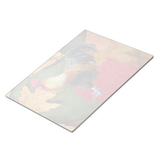 Rooster Leaves  Notepad (2) sizes