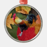 Rooster Leaves Ornaments