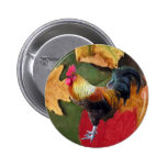 Rooster Leaves Pin
