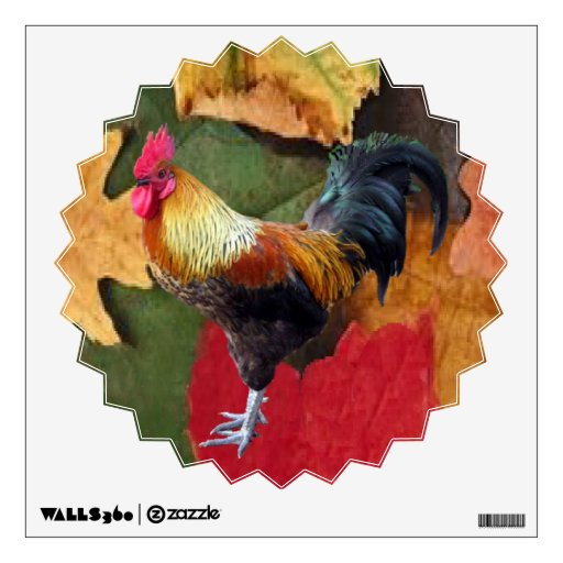 Rooster Leaves Wall Decal