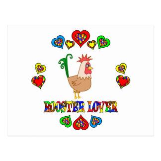 Rooster Lover Postcard