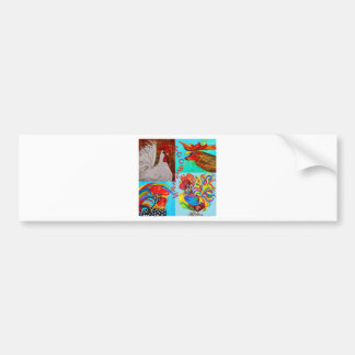Rooster Menagerie Bumper Sticker