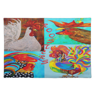 Rooster Menagerie Cloth Placemat