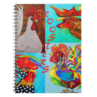 Rooster Menagerie Spiral Notebook