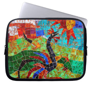 Rooster Mosaic - Murano Italy Laptop Sleeve