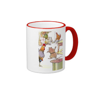 Rooster, Mouse & Hen in Kitchen Ringer Coffee Mug