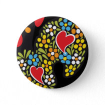 Rooster of Barcelos Close Up Button