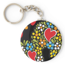 Rooster of Barcelos Close Up Keychain