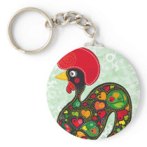 Rooster of Barcelos Nr02 - Galo de Barcelos Keychain