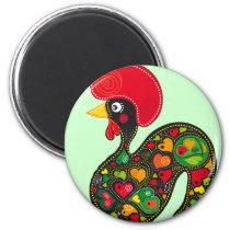 Rooster of Barcelos Nr02 - Galo de Barcelos Magnet