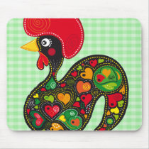 Rooster of Barcelos Nr02 - Galo de Barcelos Mouse Pad