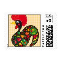 Rooster of Barcelos Nr02 - Galo de Barcelos Postage