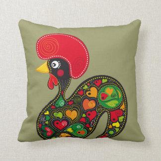 Rooster of Barcelos Nr02 - Galo de Barcelos Throw Pillow