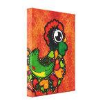 Rooster of Barcelos - Vintage Background Canvas Print