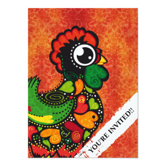 Rooster of Barcelos - Vintage Background Card