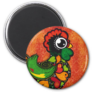 Rooster of Barcelos - Vintage Background Magnet