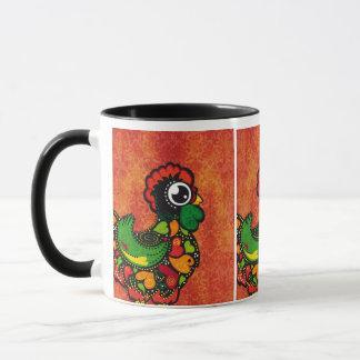 Rooster of Barcelos - Vintage Background Mug