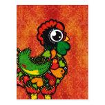 Rooster of Barcelos - Vintage Background Postcard