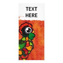Rooster of Barcelos - Vintage Background Rack Card