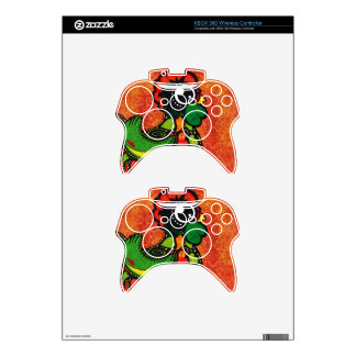 Rooster of Barcelos - Vintage Background Xbox 360 Controller Decal