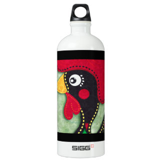 Rooster of Portugal Aluminum Water Bottle