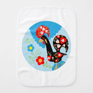 Rooster of Portugal Baby Burp Cloth