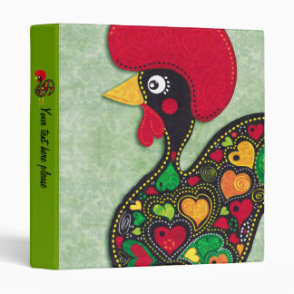 Rooster of Portugal Binder