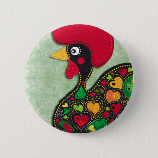 Rooster of Portugal Button
