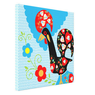 Rooster of Portugal Canvas Print