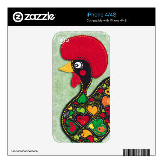 Rooster of Portugal Decals For The iPhone 4S