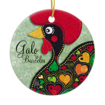 Rooster of Portugal - Galo de Barcelos Ceramic Ornament