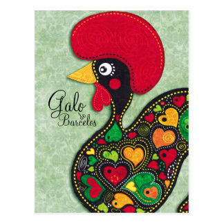 Rooster of Portugal - Galo de Barcelos Postcard