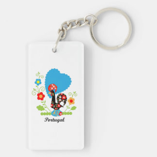 Rooster of Portugal Double-Sided Rectangular Acrylic Keychain
