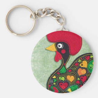 Rooster of Portugal Keychain