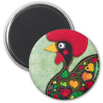 Rooster of Portugal Magnet