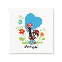 Rooster of Portugal Napkin